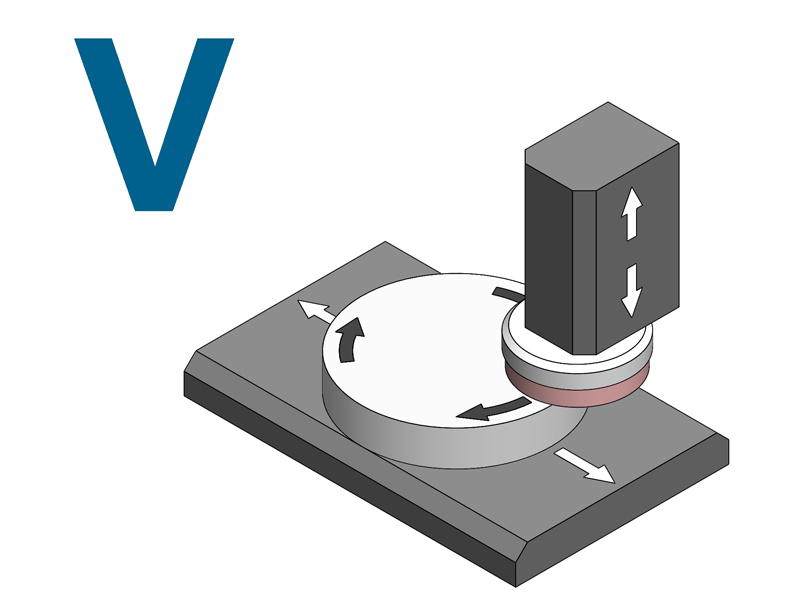Lodi Grinding Machines RETTIFICATRICE TAVOLA ROTANTE ASSE VERTICALE modello V